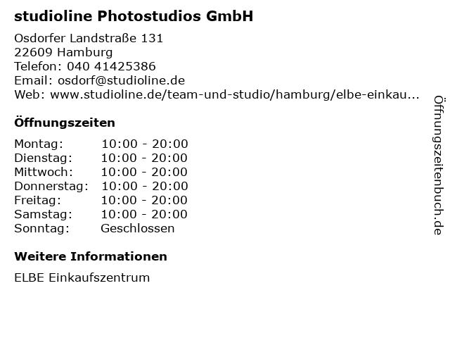 studioline Photostudios GmbH in Hamburg: Adresse und Öffnungszeiten