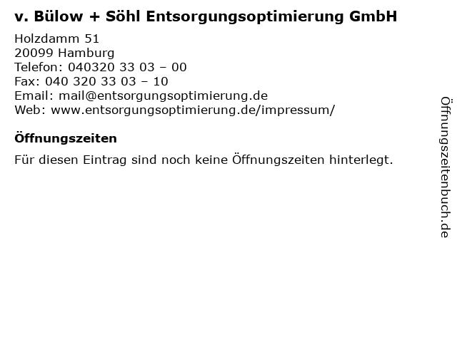 v. Bülow + Söhl Entsorgungsoptimierung GmbH in Hamburg: Adresse und Öffnungszeiten