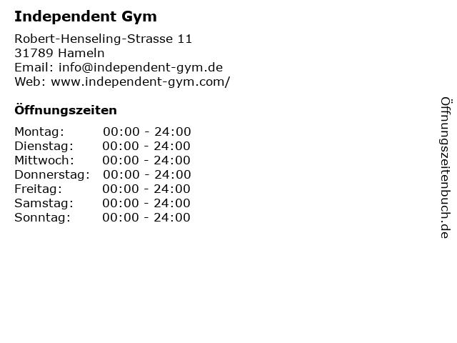 Independent Gym in Hameln: Adresse und Öffnungszeiten