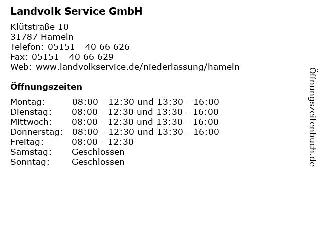 Landvolk Service GmbH in Hameln: Adresse und Öffnungszeiten