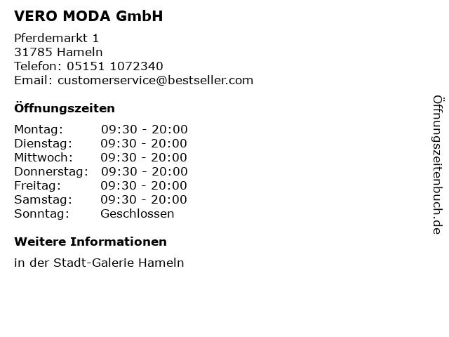 VERO MODA GmbH in Hameln: Adresse und Öffnungszeiten