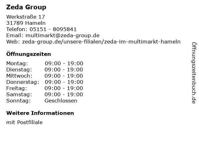 Zeda Group in Hameln: Adresse und Öffnungszeiten