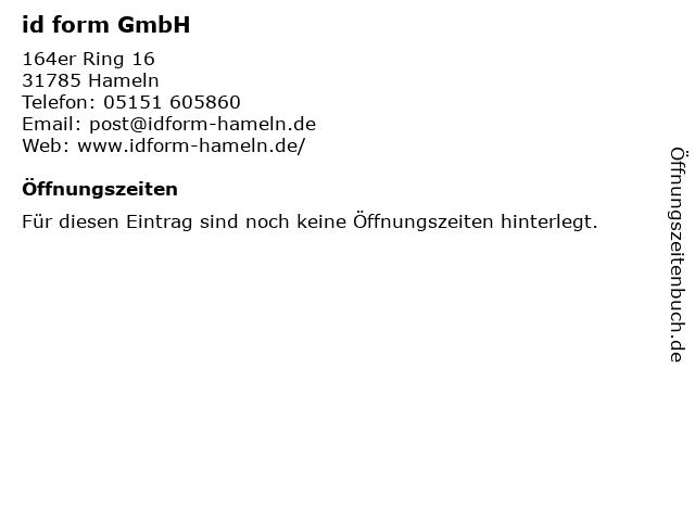id form GmbH in Hameln: Adresse und Öffnungszeiten