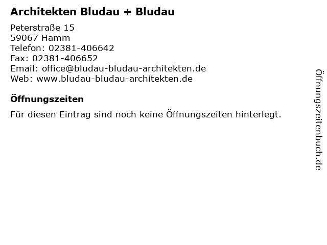 Architekten Bludau + Bludau in Hamm: Adresse und Öffnungszeiten