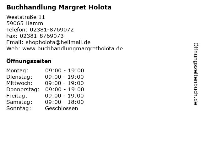 Buchhandlung Margret Holota in Hamm: Adresse und Öffnungszeiten