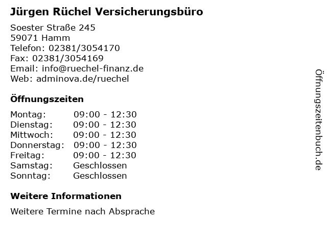 Basler Versicherung Hamm Jürgen Rüchel in Hamm: Adresse und Öffnungszeiten