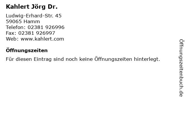 Kahlert Jörg Dr. in Hamm: Adresse und Öffnungszeiten