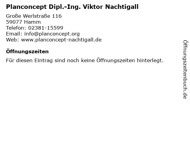 Planconcept Dipl.-Ing. Viktor Nachtigall in Hamm: Adresse und Öffnungszeiten