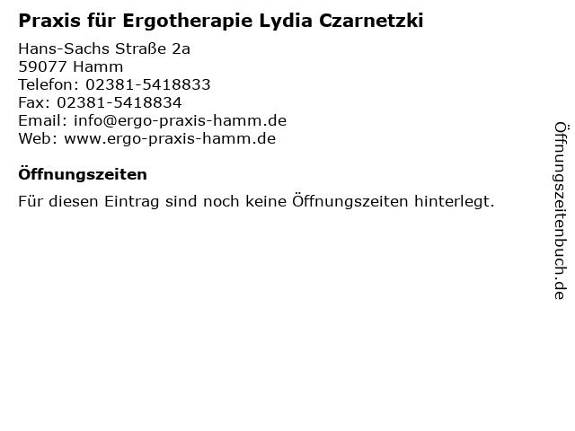 Praxis für Ergotherapie Lydia Czarnetzki in Hamm: Adresse und Öffnungszeiten