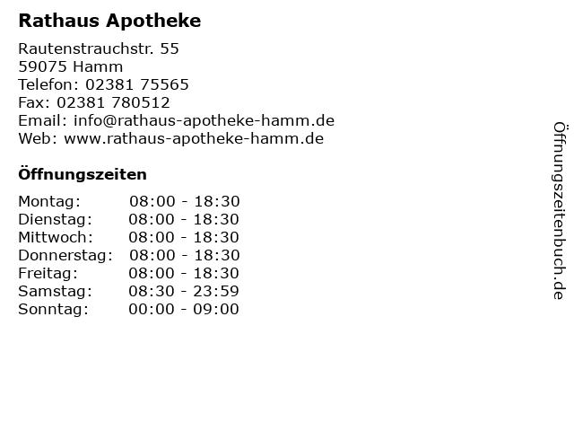 Rathaus-Apotheke in Hamm: Adresse und Öffnungszeiten