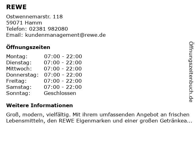 Rewe Lauer GmbH & Co. Einzelhandels oHG in Hamm: Adresse und Öffnungszeiten