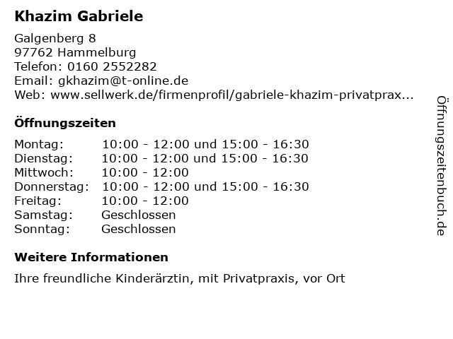 Khazim Gabriele in Hammelburg: Adresse und Öffnungszeiten