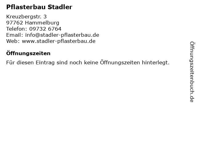 Pflasterbau Stadler in Hammelburg: Adresse und Öffnungszeiten