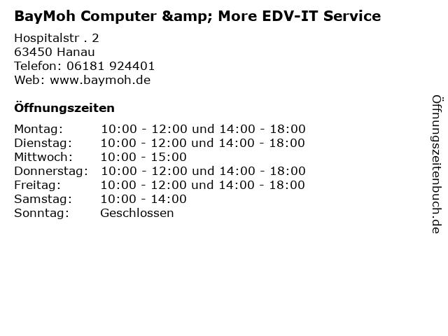 BayMoh Computer & More EDV-IT Service in Hanau: Adresse und Öffnungszeiten