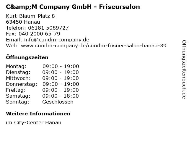 ᐅ Offnungszeiten C M Company Gmbh Friseursalon Kurt Blaum
