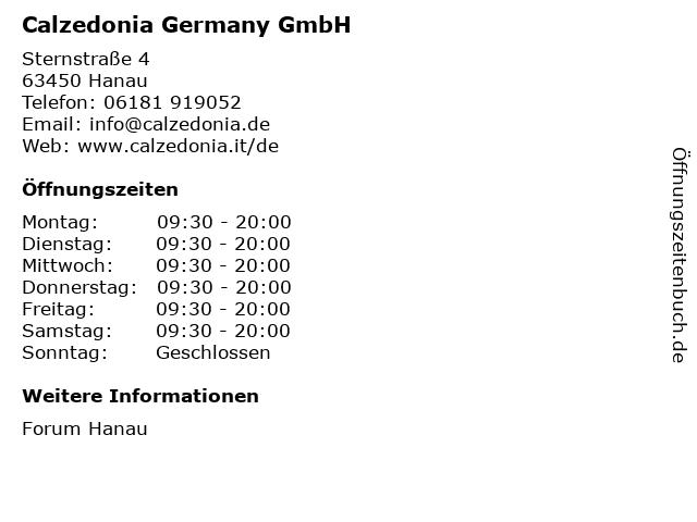 Calzedonia Germany GmbH in Hanau: Adresse und Öffnungszeiten