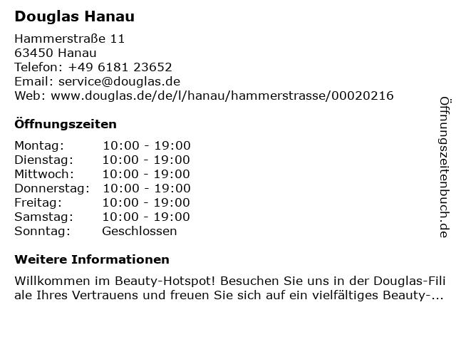 Parfümerie Douglas Hanau in Hanau: Adresse und Öffnungszeiten