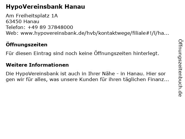 HypoVereinsbank Hanau in Hanau: Adresse und Öffnungszeiten