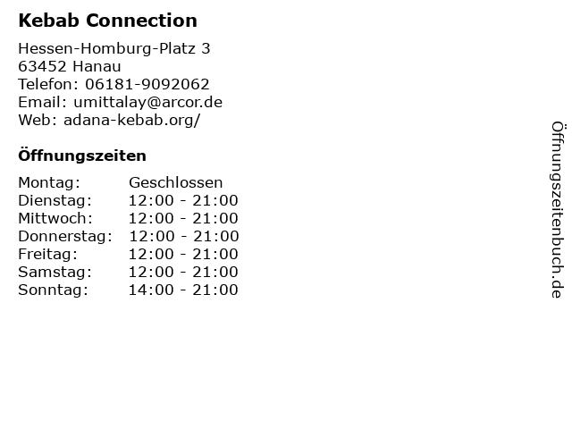 Kebab Connection in Hanau: Adresse und Öffnungszeiten
