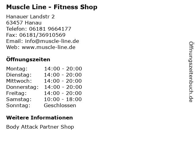 Muscle Line - Fitness Shop in Hanau: Adresse und Öffnungszeiten