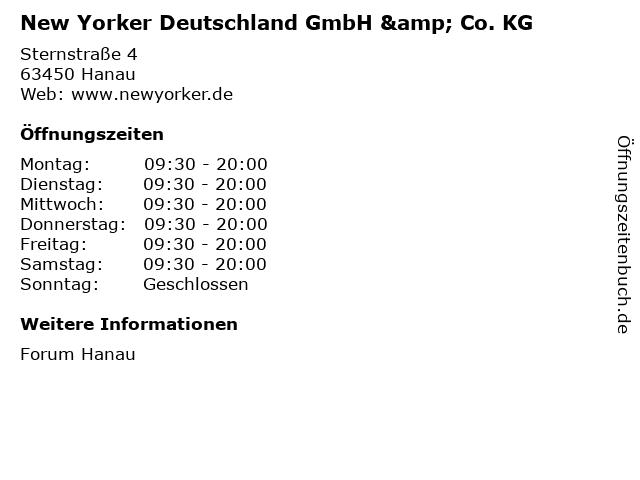 New Yorker Deutschland GmbH & Co. KG in Hanau: Adresse und Öffnungszeiten