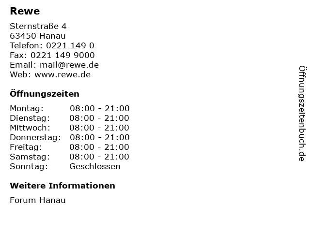 REWE Markt GmbH in Hanau: Adresse und Öffnungszeiten