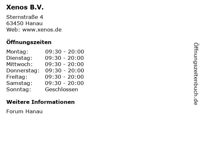 Xenos B.V. in Hanau: Adresse und Öffnungszeiten