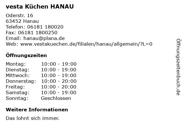 ᐅ Offnungszeiten Vesta Kuchen Hanau Oderstr 16 In Hanau