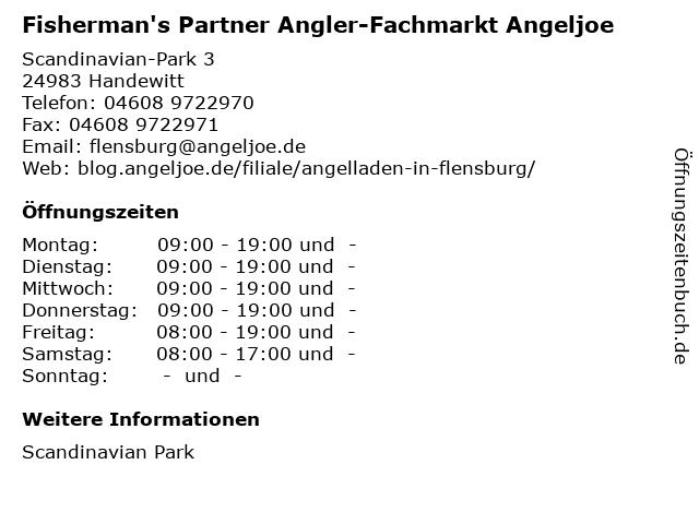 Fisherman's Partner Angler-Fachmarkt in Handewitt: Adresse und Öffnungszeiten
