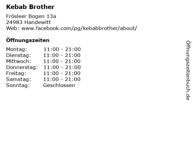 Kebab Brother in Handewitt: Adresse und Öffnungszeiten