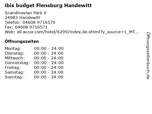 ibis budget Flensburg Handewitt in Handewitt: Adresse und Öffnungszeiten
