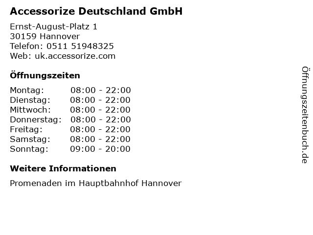 Accessorize Deutschland GmbH in Hannover: Adresse und Öffnungszeiten