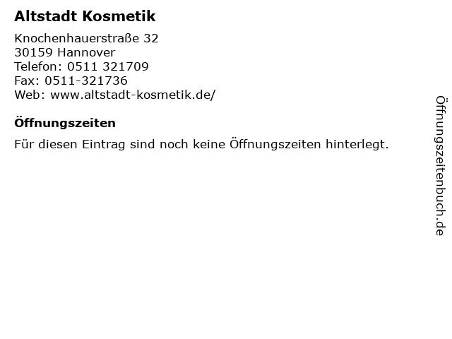 Altstadt Kosmetik in Hannover: Adresse und Öffnungszeiten