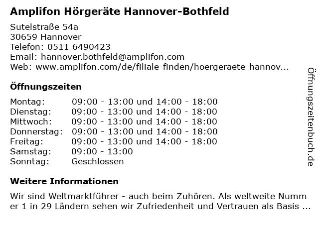 Amplifon Hörgeräte in Hannover: Adresse und Öffnungszeiten