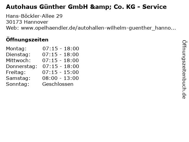 ᐅ öffnungszeiten Autohaus Günther Gmbh Co Kg Service Hans