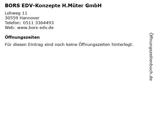 BORS EDV-Konzepte H.Müter GmbH in Hannover: Adresse und Öffnungszeiten