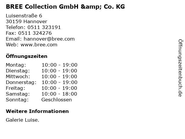 BREE Collection GmbH & Co. KG in Hannover: Adresse und Öffnungszeiten