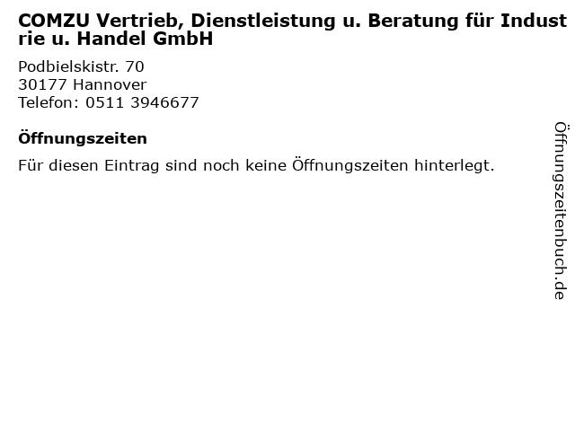 COMZU Vertrieb, Dienstleistung u. Beratung für Industrie u. Handel GmbH in Hannover: Adresse und Öffnungszeiten