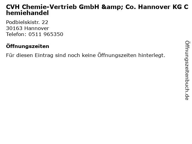 CVH Chemie-Vertrieb GmbH & Co. Hannover KG Chemiehandel in Hannover: Adresse und Öffnungszeiten