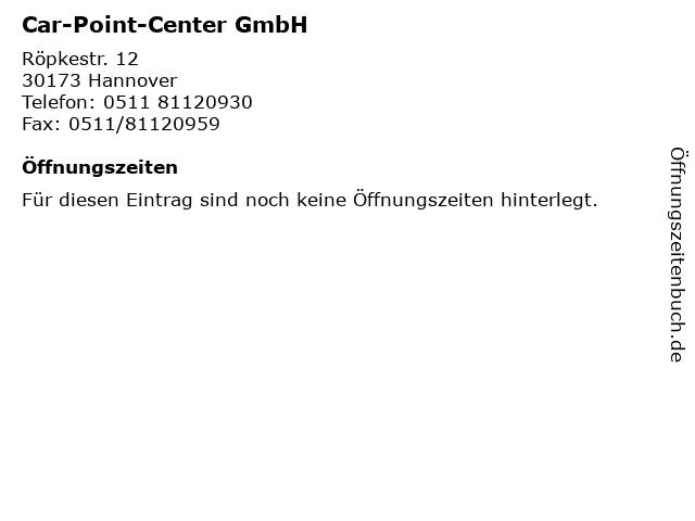 Car-Point-Center GmbH in Hannover: Adresse und Öffnungszeiten