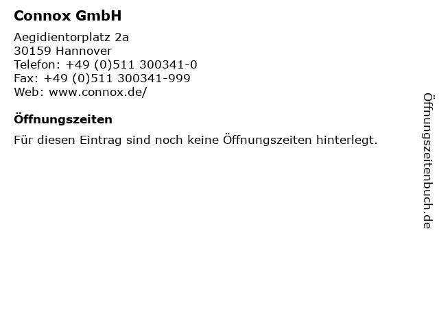 ᐅ Offnungszeiten Connox Gmbh Aegidientorplatz 2a In Hannover