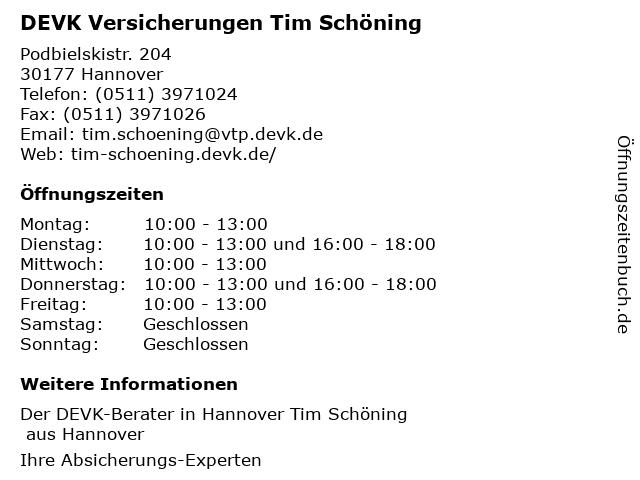 DEVK Versicherung: Achim Weidig in Hannover: Adresse und Öffnungszeiten