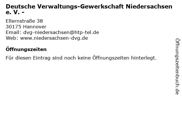 Deutsche Verwaltungs-Gewerkschaft Niedersachsen e. V. - in Hannover: Adresse und Öffnungszeiten
