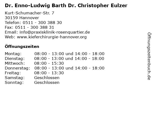 ᐅ öffnungszeiten Dr Enno Ludwig Barth Dr Christopher Eulzer