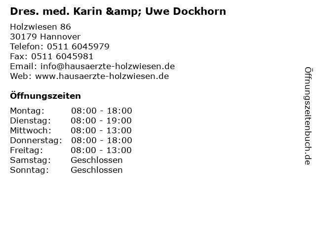 Dres. med. Karin & Uwe Dockhorn in Hannover: Adresse und Öffnungszeiten