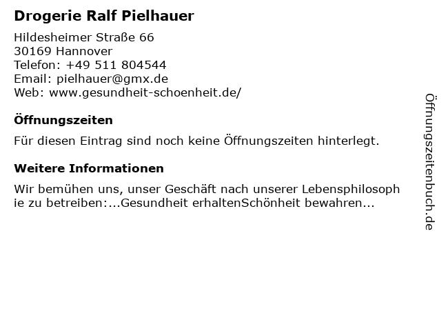 Drogerie Ralf Pielhauer in Hannover: Adresse und Öffnungszeiten