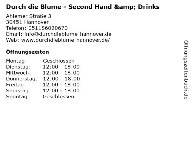 Durch die Blume - Second Hand & Drinks in Hannover: Adresse und Öffnungszeiten
