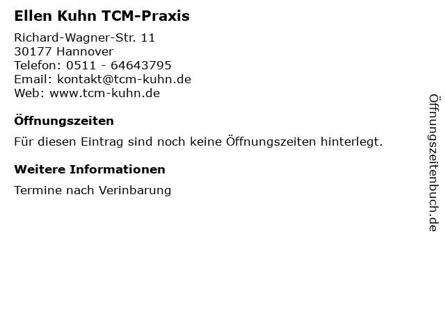 Ellen Kuhn TCM-Praxis in Hannover: Adresse und Öffnungszeiten