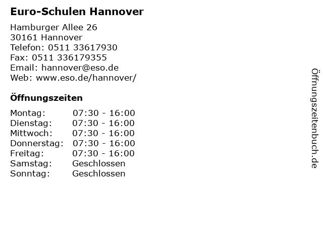 Euro-Schulen Hannover in Hannover: Adresse und Öffnungszeiten