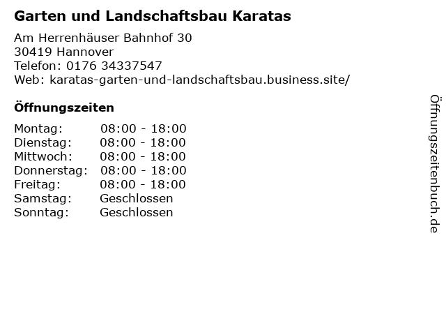 Garten und Landschaftsbau Karatas in Hannover: Adresse und Öffnungszeiten